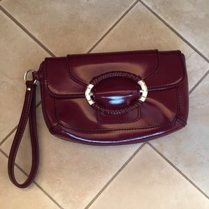 Ann Taylor Red Patent Leather wristlet NWOT